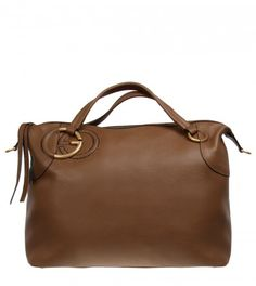 9bdb64ffa65 Gucci Maple Brown Twill Large Bag from www.profilefashion.com