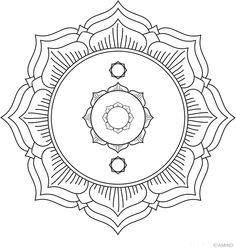 Free mandalas coloring > Flower Mandalas > Flower mandala 31