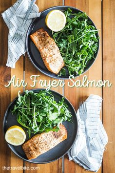 Air fryer salmon is one of my favorite quick and easy weeknight meals. It's perfectly cooked and tender every time. Dinner in 15 minutes! | thetravelbite.com | #salmon #EasyDinner #AirFryer Best Air Fryers, Easy Weeknight Meals, Salmon, Cooking, Recipes, Kitchen, Cuisine, Easy Weeknight Dinners, Koken