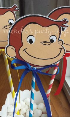 NEW  Curious George Die Cut Centerpieces SET of 3 by mlf465