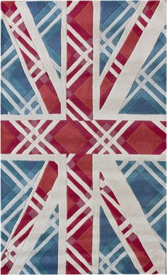 modernrugs.com England Flag Blue Modern Whimsical Rug