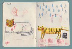 Carolina Bernal sketchbook page