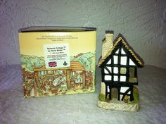 """David Winters Cottages, """"SPINNERS COTTAGE"""" dated 1984. Original Box.  by AntiqueCarla, $24.99"""