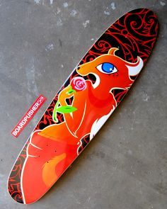 Today's www.BoardPusher.com Featured Deck is a longboard graphic designed by Adam Mordecai. You can check out more of Adam's artwork at www.behance.net/skunkart.
