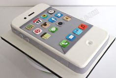 iphone+cake+pictures | All the app logos were hand cut and no edible images were used.