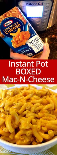 Instant Pot Boxed Kraft Macaroni And Cheese How to cook boxed Kraft macaroni & cheese in the Instant Pot – that's exactly what I need! Kraft Mac And Cheese Recipe, Crockpot Mac And Cheese, Boxed Mac And Cheese, Macaroni Cheese, Cheese Recipes, Instant Pot Pressure Cooker, Pressure Cooker Recipes, Pressure Cooking, Slow Cooker