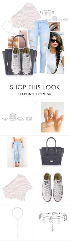 """""""Untitled #655"""" by valeriegutierrezxo ❤ liked on Polyvore featuring Henri Bendel, Rosie Assoulin, Converse and New Look"""