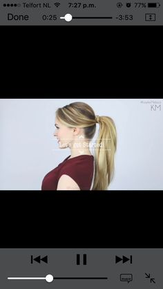 How to ponnytail 5 minutes http://www.healthyfoodhouse.com/tying-hair-wrong-way/?utm_source=Vicky&utm_medium=Vicky&utm_campaign=InfiSpider