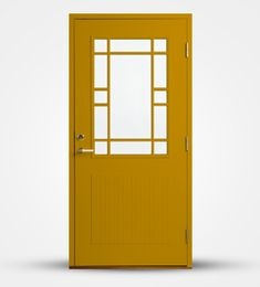 Nusnäs ytterdörr Modern Wooden Doors, Front Door Entrance, Exterior Doors, Mirror, Interior, Furniture, Queens, Design, Home Decor