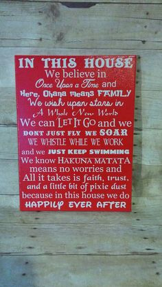 In This House we do happily ever after CUSTOM 16x20