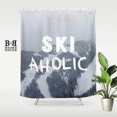 SKIaholic, Shower Curtain