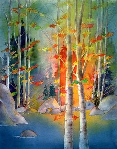 Morning Light by Peter Chope via alpinewatercolors.com