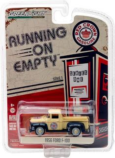 Greenlight Machines Auto World Hot Wheels Johnney Lightning Diecast Lego German Shepherd Puppy : Running on Empty Series 1 - 1956 Ford - Red . Matchbox Cars, Car Ford, Diecast Models, Pickup Trucks, Plastic Case, Hot Wheels, Cars For Sale, The 100, Beige