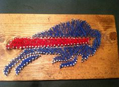 Check out this item in my Etsy shop https://www.etsy.com/listing/241280743/buffalo-bills-string-art