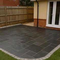 All types of natural stone paving - Indian sandstone, natural granite, limestone and slate. Patio packs and individual sizes. Slate Paving, Paving Stones, Natural Stones, Granite, Tile Floor, Patio, Nature, Home Decor, Ideas