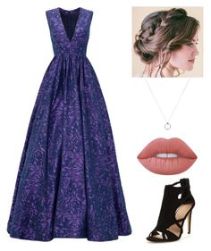 """Ravenclaw Yule Ball #braidedition"" by fanan0ndom ❤ liked on Polyvore featuring ML Monique Lhuillier, Lime Crime, harrypotter, ravenclaw, nerdlife, yuleball and braidedition"