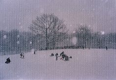 Melissa Zexter embroidered photographs.