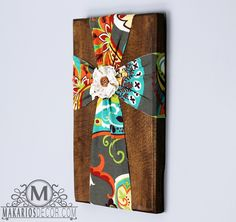 Art & Collectibles.cross.personalized.fabric by MakariosDecor