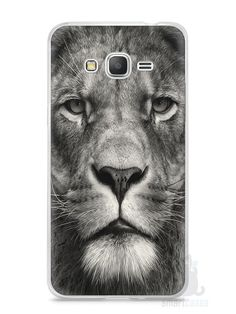 Capa Samsung Gran Prime Leão Face - SmartCases - Acessórios para celulares e tablets :)