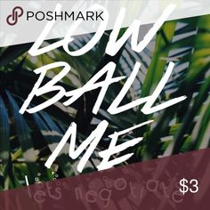 Low ball ⚾️ me. Let's negotiate! 👍❤️🎉🎊🏀🎁📦🛍 Low ball ⚾️ me. Let's negotiate! 👍❤️🎉🎊🏀🎁📦🛍 LOW BALL 🏀⚾️🏈me! 👍😊Lets negotiate!! Other