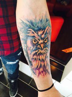 #owl #tattoo #color #love