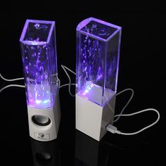 LED Dancing Water Speakers Fountain Show USB Music for PC iPhone iPad