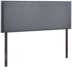 Modern Upholstered, Button Tufted, Arched Nailhead Padded Fabric and Vinyl Headboards