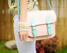 pastel shoulder bag