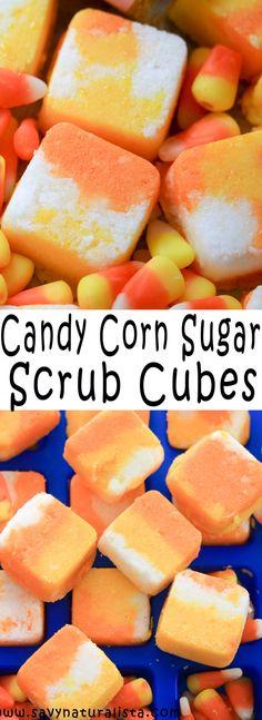 Corn Sugar Body Scrub Cubes Tis the season to make festive recipes and these Candy Corn Body Scrub Cubes is what you want to try!Tis the season to make festive recipes and these Candy Corn Body Scrub Cubes is what you want to try! Sugar Scrub Cubes, Sugar Scrub Diy, Diy Scrub, Sugar Scrubs, Salt Scrubs, Candy Corn, Neutrogena, Zucker Schrubben Diy, Coconut Oil Body Scrub