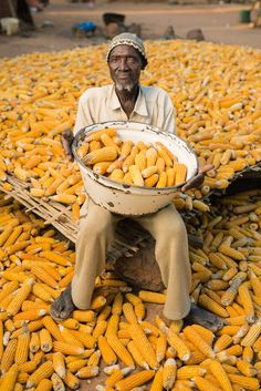 farmer with corn harvest, Siby, Mali by Jim Richardson, National Geographic We Are The World, People Around The World, Wonders Of The World, Around The Worlds, Paises Da Africa, West Africa, Sierra Leone, Terra A Vista, Steve Mccurry