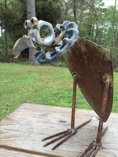 Warmhearted proposed welding metal art projects Read more articles Metal Art Projects, Welding Projects, Metal Crafts, Welding Ideas, Welding Crafts, Diy Projects, Metal Sculpture Artists, Steel Sculpture, Sculpture Ideas