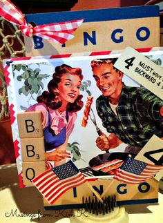 Bingo card decorated for 4th of July