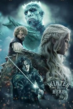Winter is here! 🐲 Game of Thrones Final Season (only 6 episodes) - premieres this Sunday, April 2019 on HBO Tatuagem Game Of Thrones, Arte Game Of Thrones, Game Of Thrones Artwork, Game Of Thrones Poster, Game Of Thrones Quotes, Game Of Thrones Funny, Game Thrones, Winter Is Here, Winter Is Coming