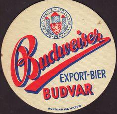 Beer coaster budvar-8 Beer Mats, Beer Coasters, Brewery, Drink, Beverage, Drinking