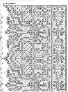 "Photo from album ""Burda_fileinoe on Yandex. Thread Crochet, Filet Crochet, Crochet Stitches, Knit Crochet, Cross Stitch Fabric, Cross Stitch Embroidery, Cross Stitch Patterns, Knitting Stiches, Knitting Yarn"
