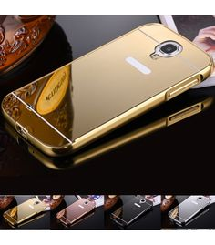 New Mirror Back Case for Samsung Galaxy SIV Aluminum Metal Acrylic Hybrid Cover Rose Gold Cellphone Accessaries Samsung S4 Case, Samsung Galaxy S4, Geek Gadgets, Cool Gadgets, Mobile Phone Cases, Cell Phone Cases, Luxury Mirror, Galaxy S4 Mini, Best Cell Phone