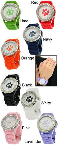 Paw Print Silicone Watch at The Animal Rescue Site only 20. feeds 28 dogs please help