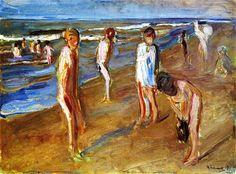 Bathers, 1909 - Max Liebermann. (German Impressionist Painter, 1847 - 1935).