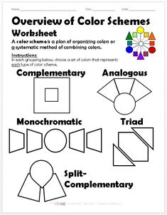 98 best color wheel images on pinterest in 2018 color theory elements of art and art classroom for Interior design lesson plans for high school