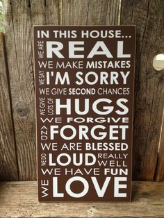 In this house we are real Family Rules.. home by stickwithmevinyl, $21.00