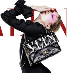 Glo Makeup, Malaysia Truly Asia, Black White Red, Advertising Campaign, Luxury Handbags, Chanel Boy Bag, Valentino, Shoulder Bag, Model