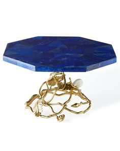 Enchanted Garden Cake Pedestal, Gold - Michael Aram