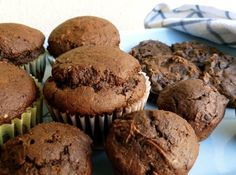Weight Watchers 2 Ingredient chocolate pumpkin muffins and cookies, adapted from Hungry Girl, easy, moist, delicious, 181 calories, 5 Points Plus,