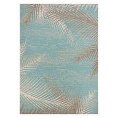Couristan Monaco Tropical Palms Indoor/Outdoor Area Rug Aqua - 24293134023119U