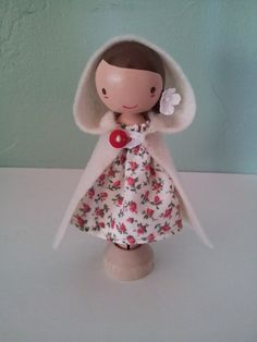 Girl with White Cape by LittleBun on Etsy, $20.00