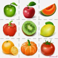 Recursos para niños: cartas de frutas