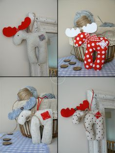 What a cute idea...and we could just size 'em down for ornaments!