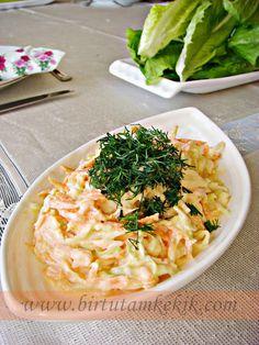 Coleslaw with practical sauce Practical home cooking Thai Beef Salad, Avocado Chicken Salad, Avocado Dessert, Avocado Recipes, Salad Recipes, Healthy Recipes, Appetizer Salads, Appetizer Recipes, Turkish Salad