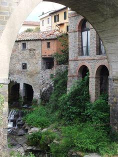 The village of Loro Ciuffenna, near Arezzo