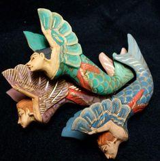 Mermaid Cove, Mermaid Art, Mermaid Images, Carved Wood Wall Art, Hand Carved, Sister Ornament, Polynesian Art, Wooden Cat, Mermaids And Mermen